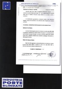 certificazione porte blindate 24