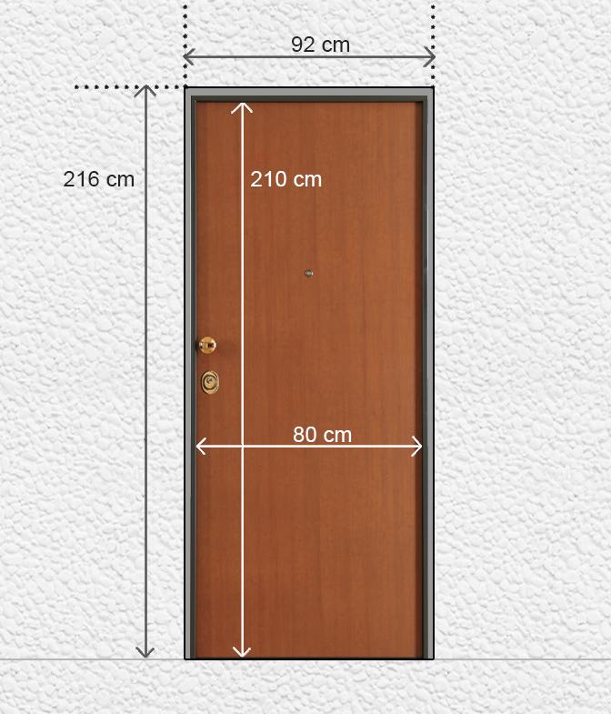 Prendere le misure porte blindate - Montaggio controtelaio porta ...