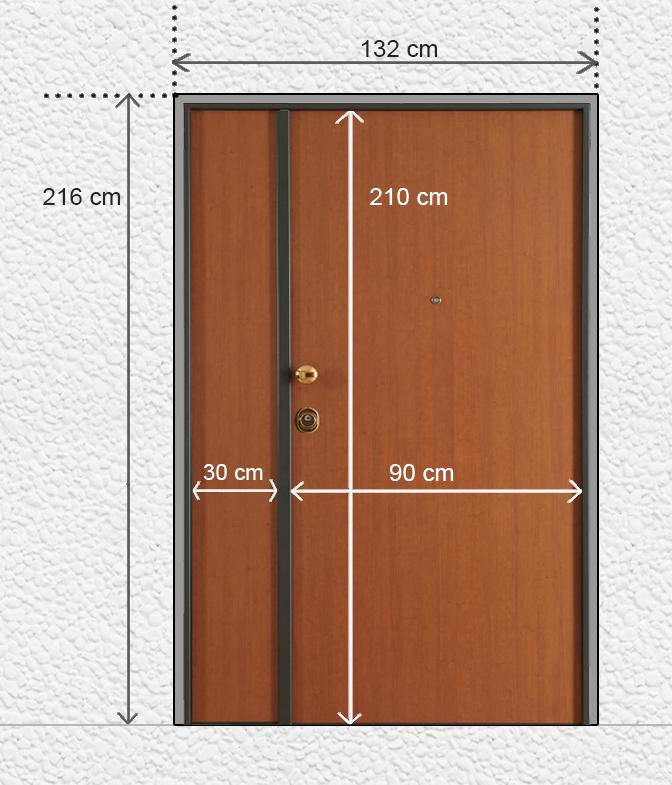 Prendere le misure porte blindate - Montaggio paraspifferi porta blindata ...