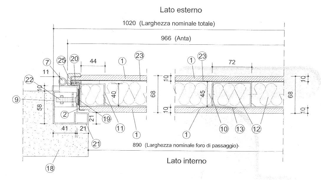 Pannello Solare Disegno Tecnico : Disegni tecnici porte blindate